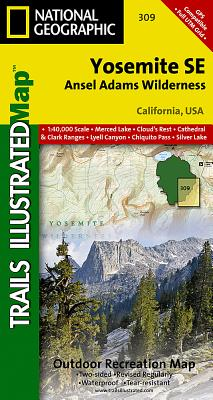 Yosemite Se: Ansel Adams Wilderness (National Geographic Trails Illustrated Map #309) Cover Image