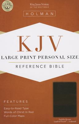 Cover for KJV Large Print Personal Size Reference Bible, Saddle Brown LeatherTouch Indexed