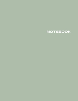 Notebook: Lined Notebook Journal - Stylish Jojoba Green - 120 Pages - Large 8.5 x 11 inches - Composition Book Paper - Minimalis Cover Image