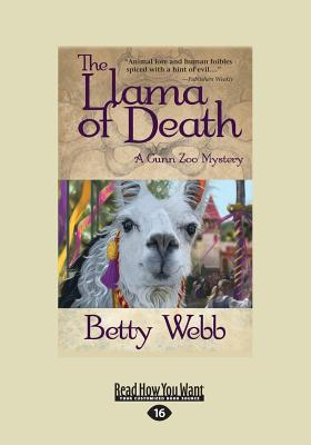 The Llama of Death: A Gunn Zoo Mystery (Large Print 16pt) Cover Image