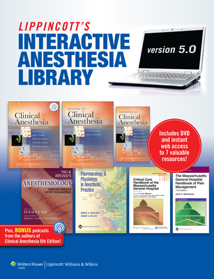 The Lippincott Interactive Anesthesia Library on DVD-ROM: Version 5.0 Cover Image