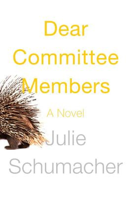 Dear Committee Members Cover