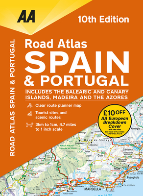 Road Atlas Spain & Portugal Cover Image