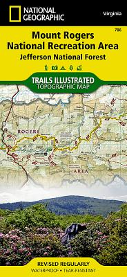 Mount Rogers National Recreation Area [jefferson National Forest] (National Geographic Maps: Trails Illustrated #786) Cover Image