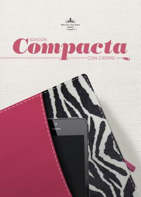 Cover for RVR 1960 Biblia, Edición Compacta con cierre, fucsia/cebra símil piel