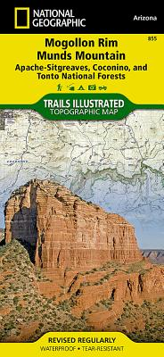 Mogollon Rim, Munds Mountain [Apache-Sitgreaves, Coconino, and Tonto National Forests] (National Geographic Trails Illustrated Map #855) Cover Image