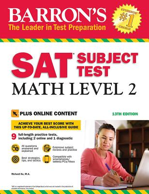 SAT Subject Test: Math Level 2 with Online Tests (Barron's Test Prep) Cover Image
