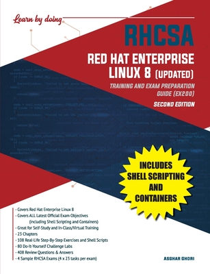 RHCSA Red Hat Enterprise Linux 8 (UPDATED): Training and Exam Preparation Guide (EX200), Second Edition Cover Image