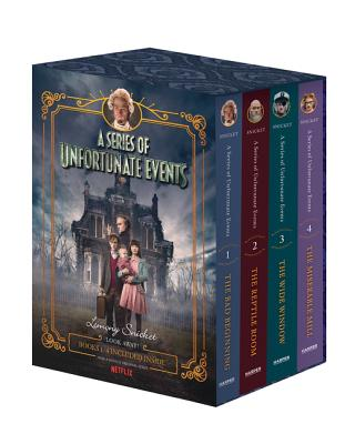 A Series of Unfortunate Events #1-4 Netflix Tie-in Box Set Cover Image