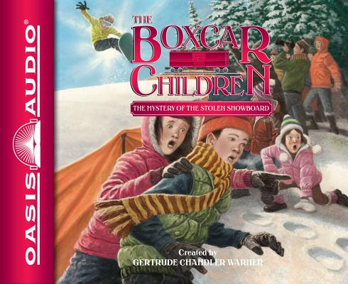 Cover for The Mystery of the Stolen Snowboard (Library Edition) (The Boxcar Children Mysteries #134)