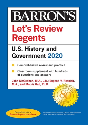 Let's Review Regents: U.S. History and Government 2020 (Barron's Regents NY) Cover Image