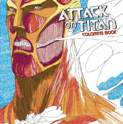 Attack on Titan Adult Coloring Book cover image