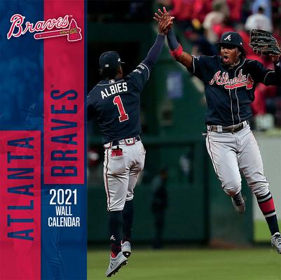 Atlanta Braves 2021 12x12 Team Wall Calendar Cover Image