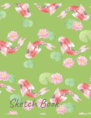 Sketch Book: Asian Themed Koi Design Cover Image
