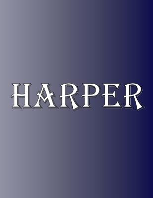 Harper: 100 Pages 8.5 X 11 Personalized Name on Notebook College Ruled Line Paper Cover Image