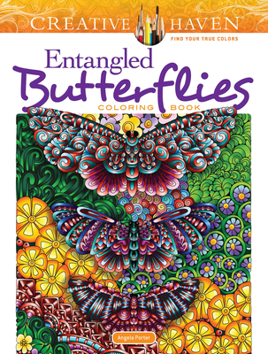 Creative Haven Entangled Butterflies Coloring Book (Adult Coloring) Cover Image