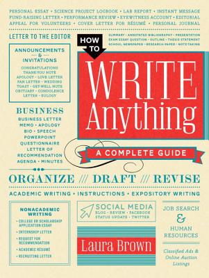How to Write Anything: A Complete Guide Cover Image