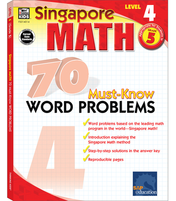 70 Must-Know Word Problems, Grade 5 (Singapore Math 70 Must Know Word Problems) Cover Image