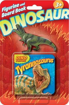 Dino Figurine + Board Book T. rex Cover Image