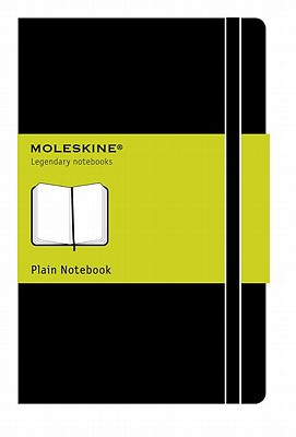 Moleskine Classic Notebook, Large, Plain, Black, Hard Cover (5 x 8.25) (Classic Notebooks) Cover Image