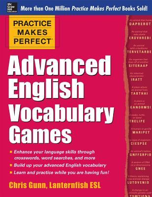Practice Makes Perfect Advanced English Vocabulary Games Cover Image