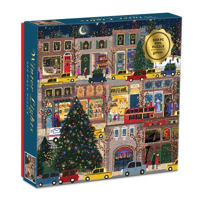 Winter Lights Foil Puzzle 500 Pc Puzzle Cover Image