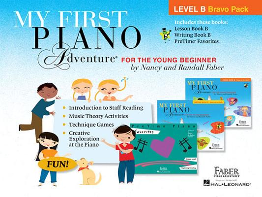 My First Piano Adventure Level B Bravo Pack: 3-Book Pack Cover Image