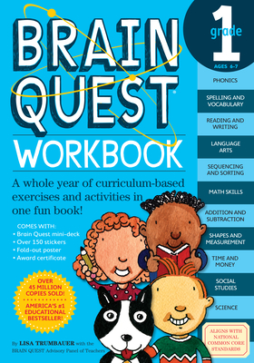 Brain Quest Workbook: Grade 1 (Brain Quest Workbooks) Cover Image
