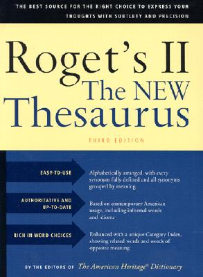 Roget's II the New Thesaurus, Third Edition Cover Image