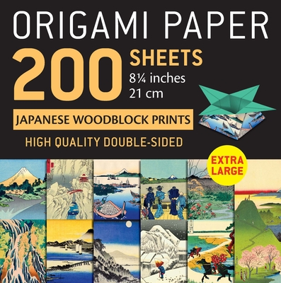 Origami Paper 200 Sheets Japanese Woodblock Prints 8 1/4: Extra Large Tuttle Origami Paper: High-Quality Double Sided Origami Sheets Printed with 12 D Cover Image
