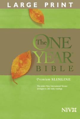 One Year Premium Slimline Bible-NIV-Large Print Cover Image