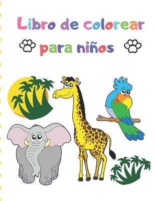 Libro de colorear para niños: Gran regalo para niños y niñas, edades 2-4, 4-6 / Libros para colorear fáciles y grandes para niños pequeños Cover Image