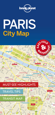 Lonely Planet Paris City Map Cover Image