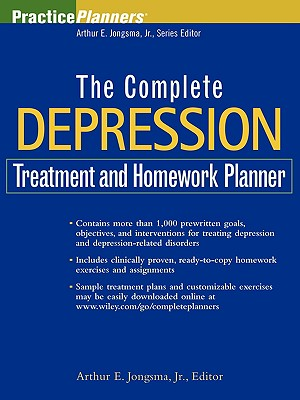 The Complete Depression Treatment and Homework Planner (PracticePlanners #183) Cover Image