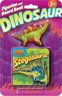 Dino Figurine + Board Book Stegosaurus Cover Image