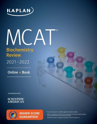 MCAT Biochemistry Review 2021-2022: Online + Book (Kaplan Test Prep) Cover Image