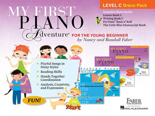 My First Piano Adventure Level C Bravo Pack: 4-Book Pack Cover Image