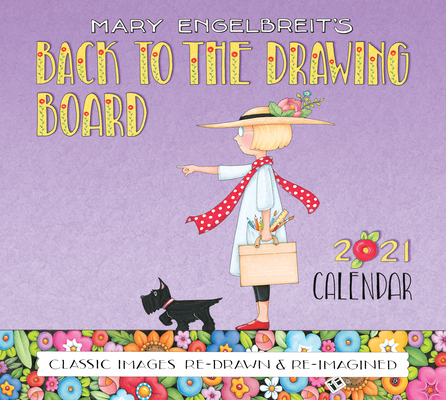 Mary Engelbreit 2021 Deluxe Wall Calendar: Back to the Drawing Board Cover Image