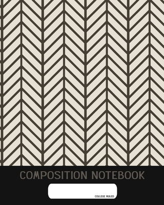 Composition Notebook: College Ruled - Black and White Geometry - Back to School Composition Book for Teachers, Students, Kids and Teens - 12 cover