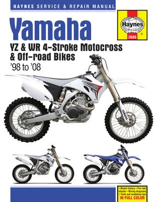 Cover for Yamaha YZ & WR 4-Stroke Motocross & Off-road Bikes, '98 to'08 (Haynes Service & Repair Manual)