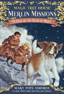 Dogs in the Dead of Night (Magic Tree House #46) Cover Image