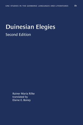 Duinesian Elegies (University of North Carolina Studies in Germanic Languages a #81) Cover Image