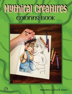 Mythical Creatures Coloring Book Cover Image