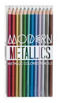 Modern Metallic Colored Pencils - Set of 12 Cover Image