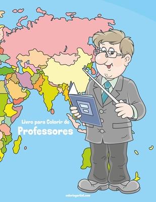 Livro para Colorir de Professores Cover Image
