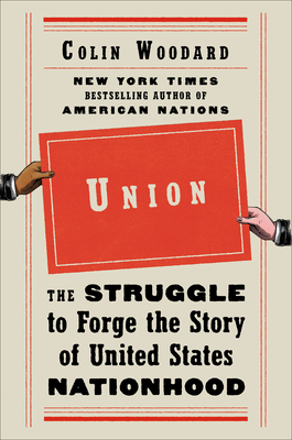 cover art for UNION. A drawn brown hand on the left and a drawn white hand on the right hold the title placard between them.
