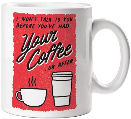 No Talk Before Coffee Mug Cover Image