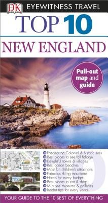 Top 10 New England [With Map] Cover Image