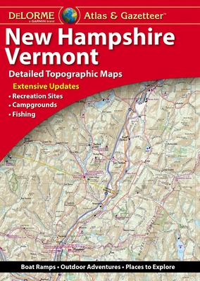 Delorme Atlas & Gazetteer: New Hampshire, Vermont Cover Image
