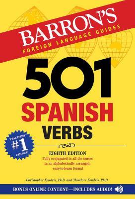 501 Spanish Verbs (Barron's 501 Verbs) Cover Image